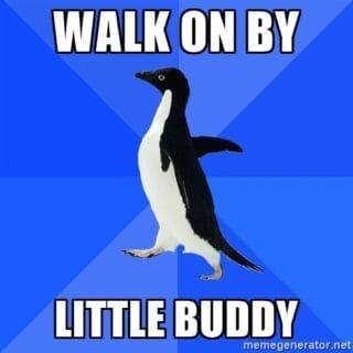 go away penguin