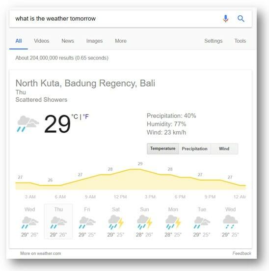 weather example