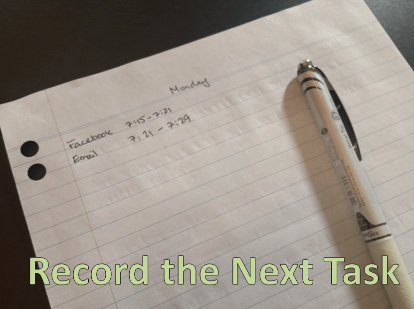 Record the Next Task