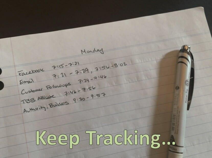 keep tracking