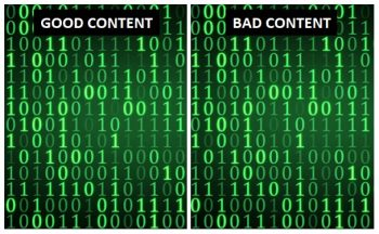 good vs bad content