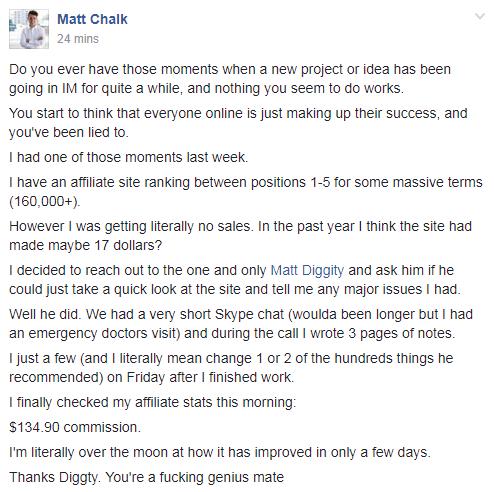 chalk's testimonial