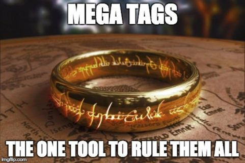 lord of the rings mega tags meme