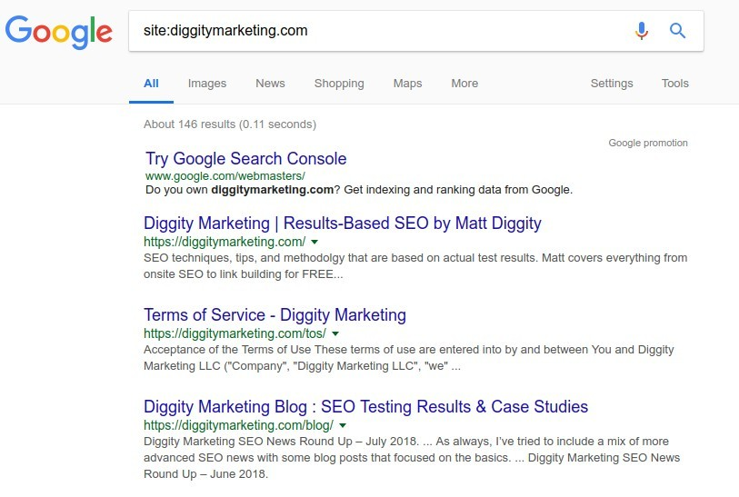 Site search Diggity Marketing