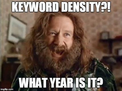 keyword density meme