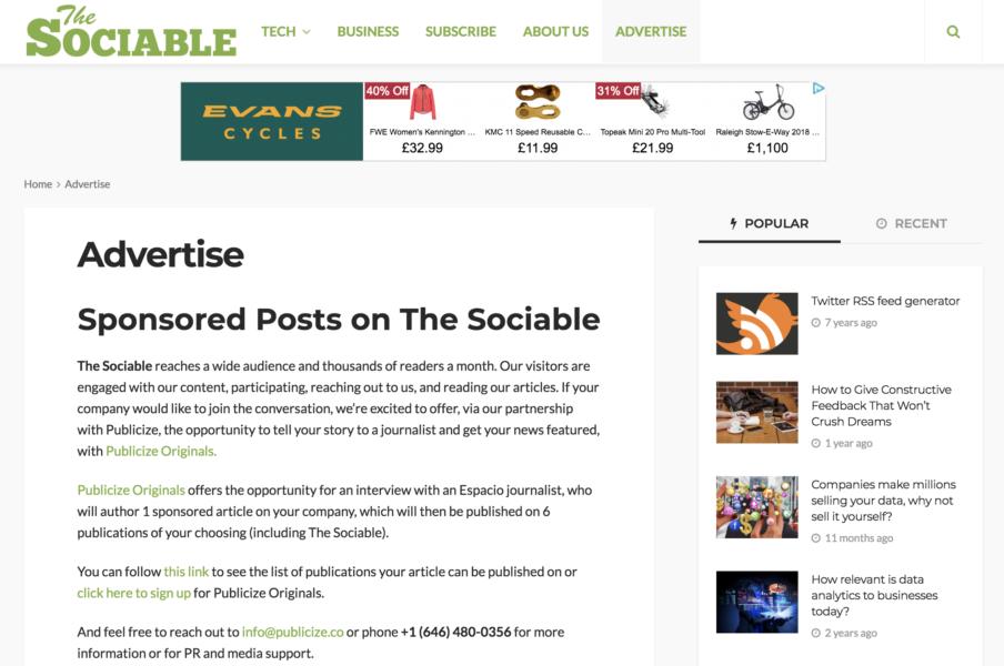 The Sociable