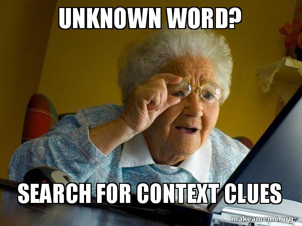 search for context clues meme