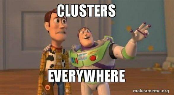 clusters meme