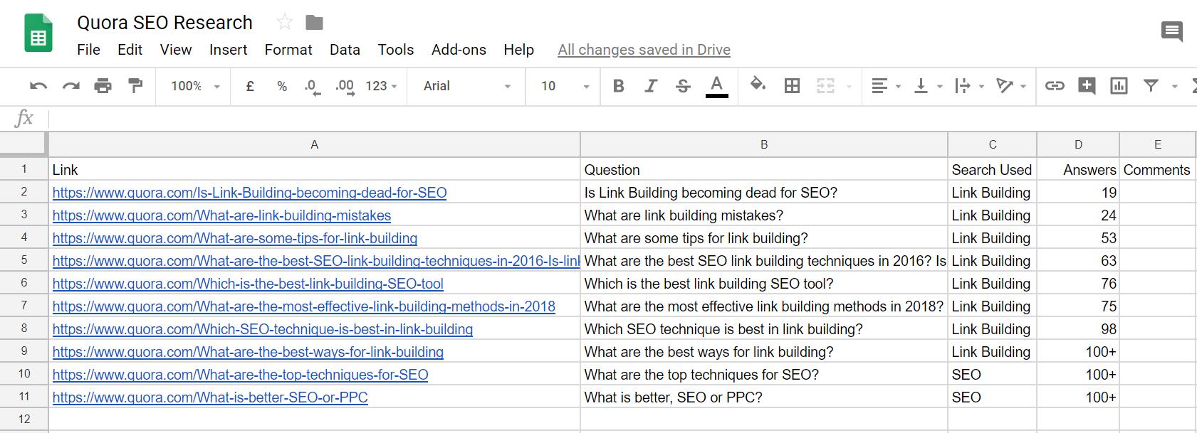 Quora Google Drive