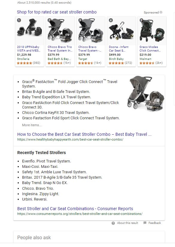 car seat stroller combo snippet