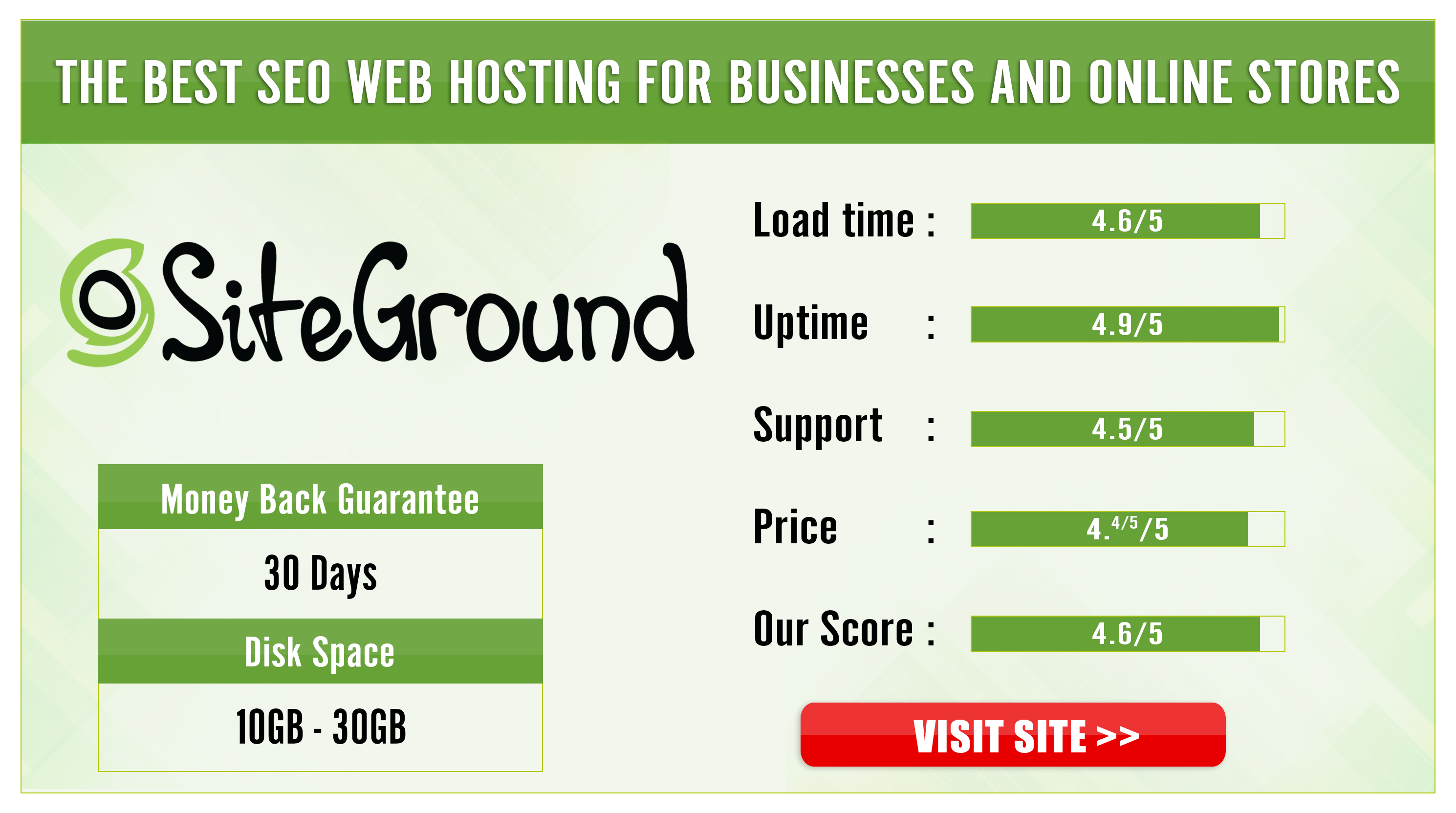 Best for Online Business - Siteground