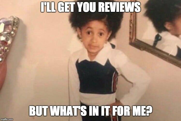 google reviews meme