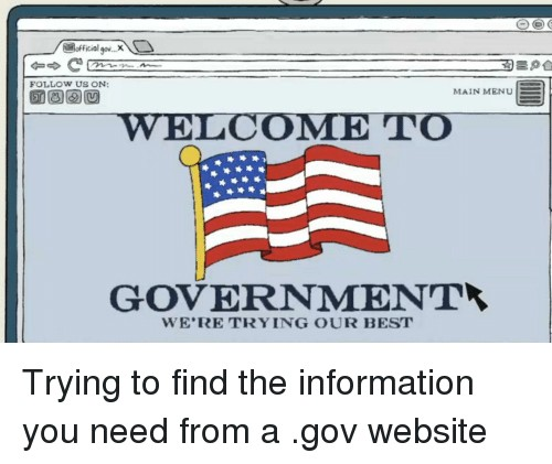 government website meme
