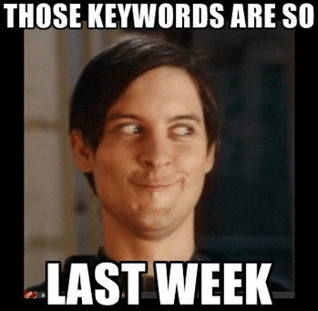 SEO keywords meme tobby mcguirre