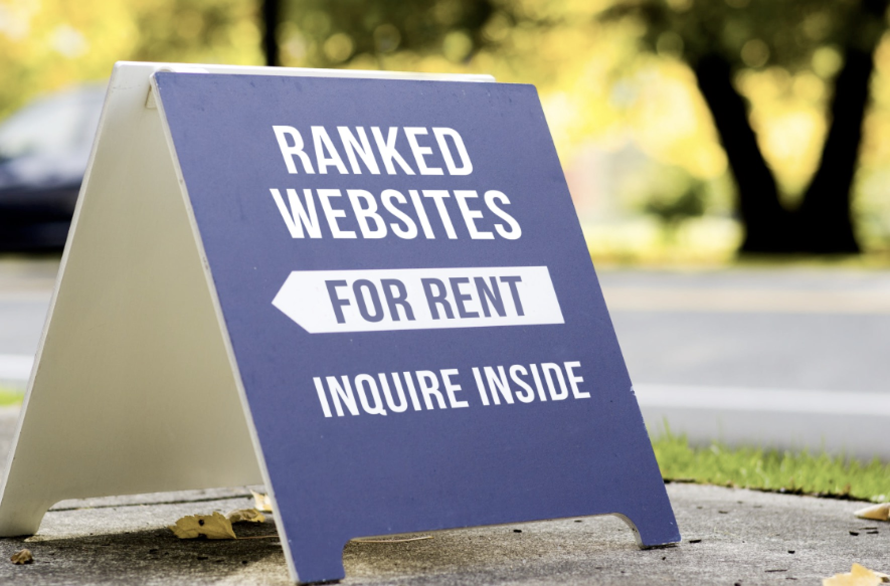 ranked website for rent sign