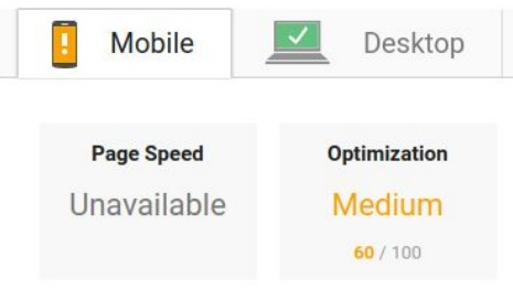 page speed mobile