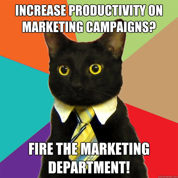 marketing campaign meme