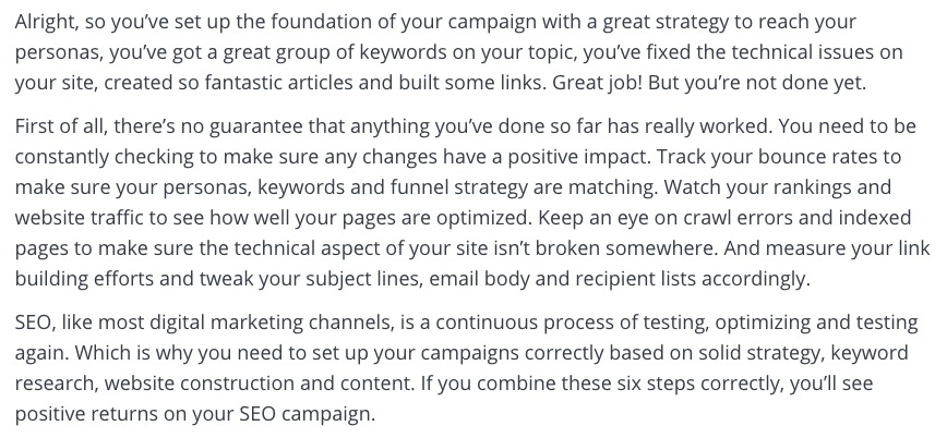 tracking your seo campaign's progress
