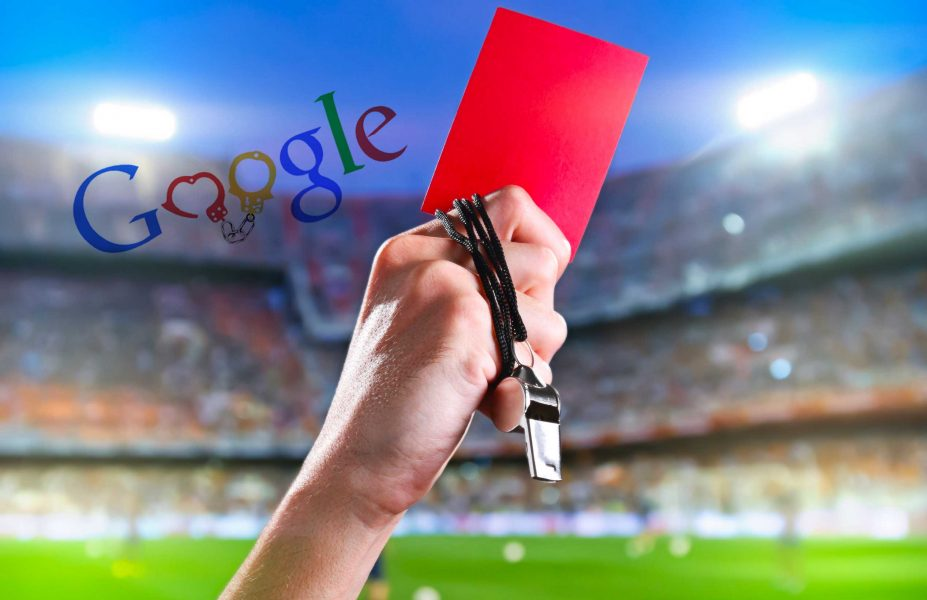 google penalty red card