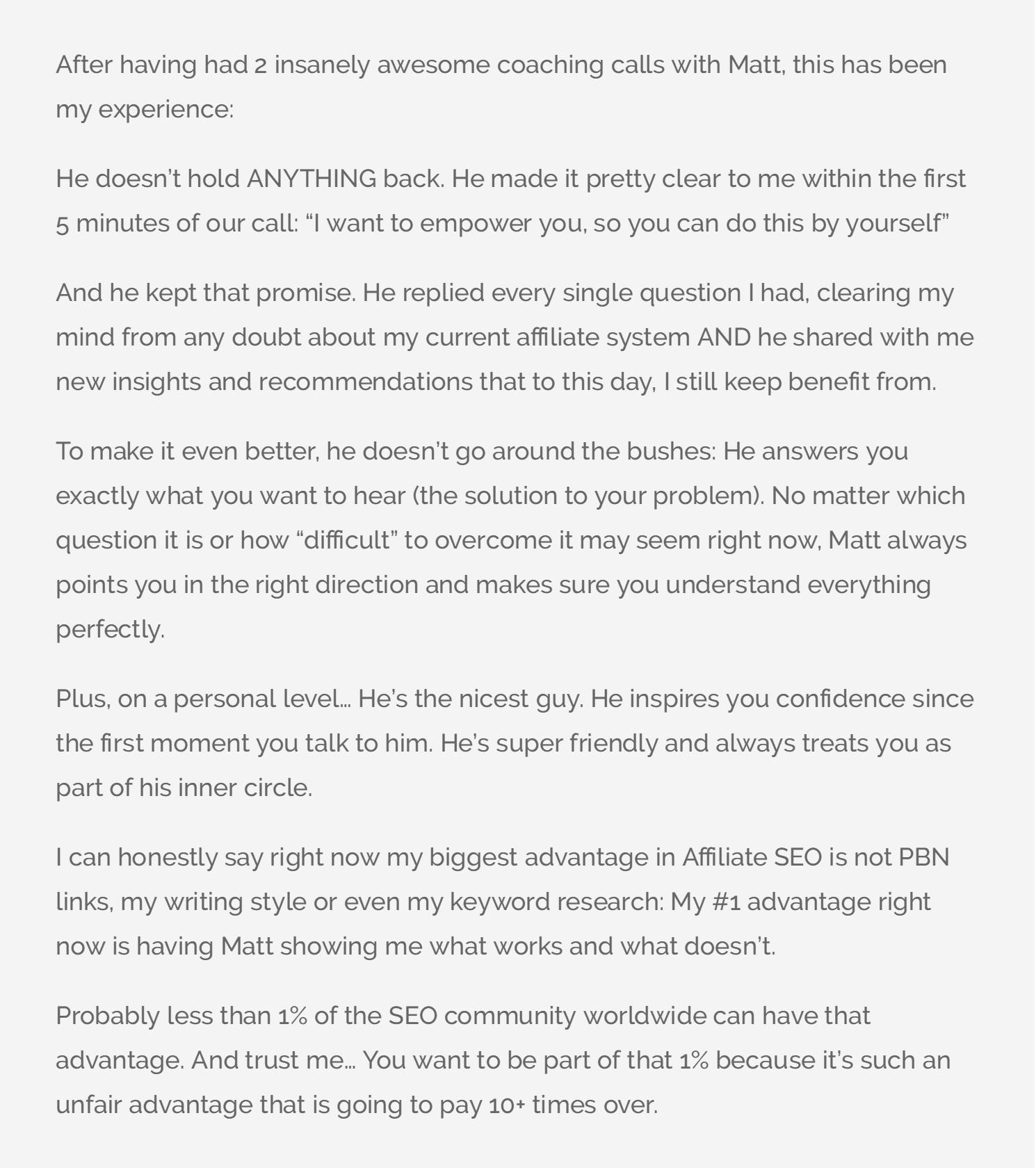 Jorge Luis's testimonial