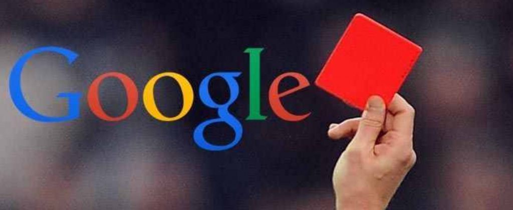 google penalty issues hand gesture
