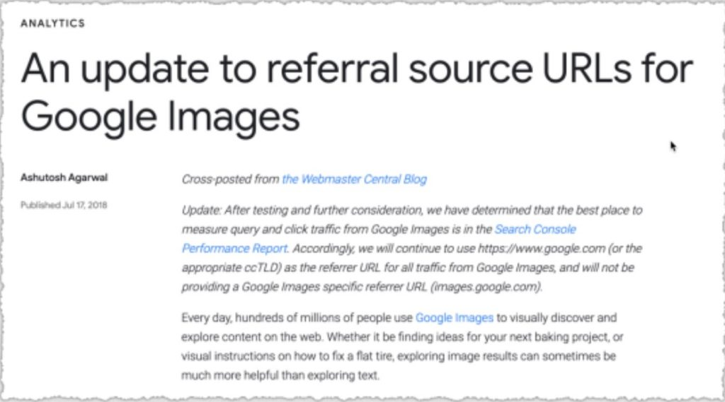 Google images source URL update