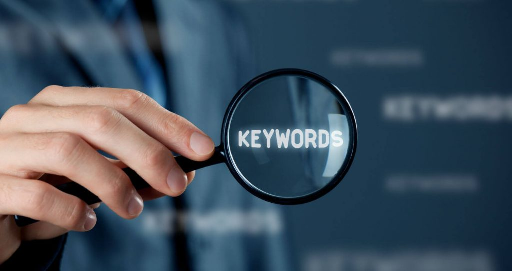 keyword research magnifying