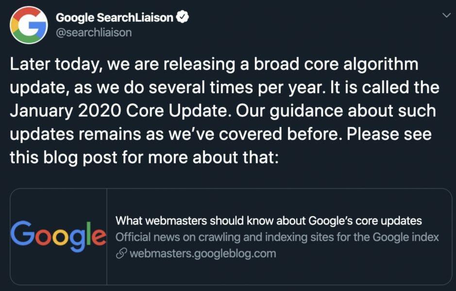 jan 2020 google liasion post