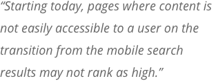 Mobile First Indexing Quote