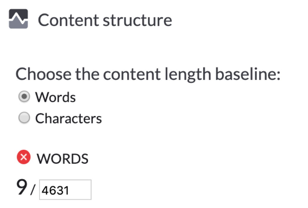 surfer seo content structure word count