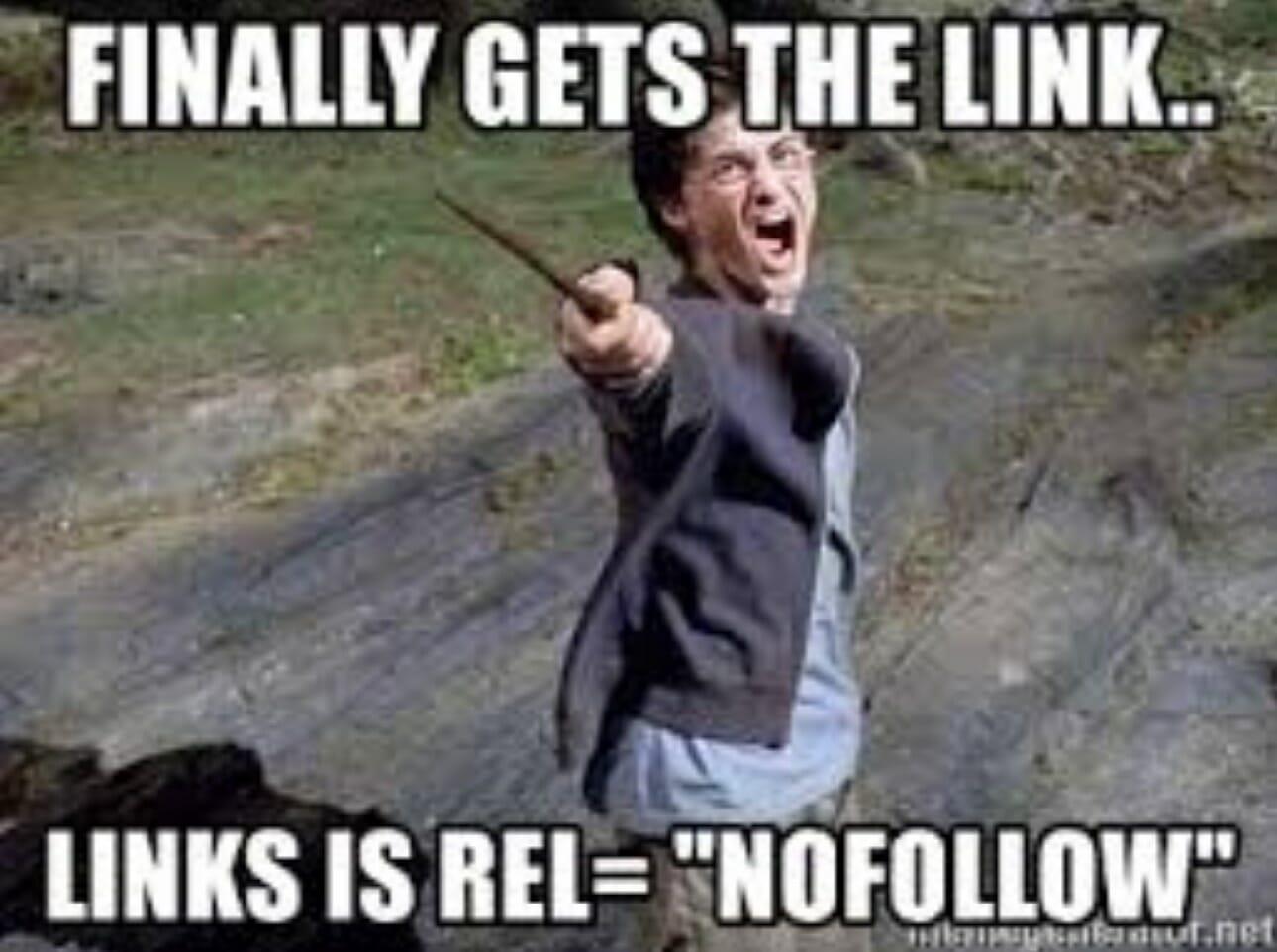 nofolllow harry potter meme