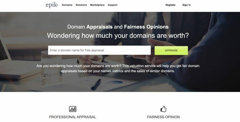 epik appraise website