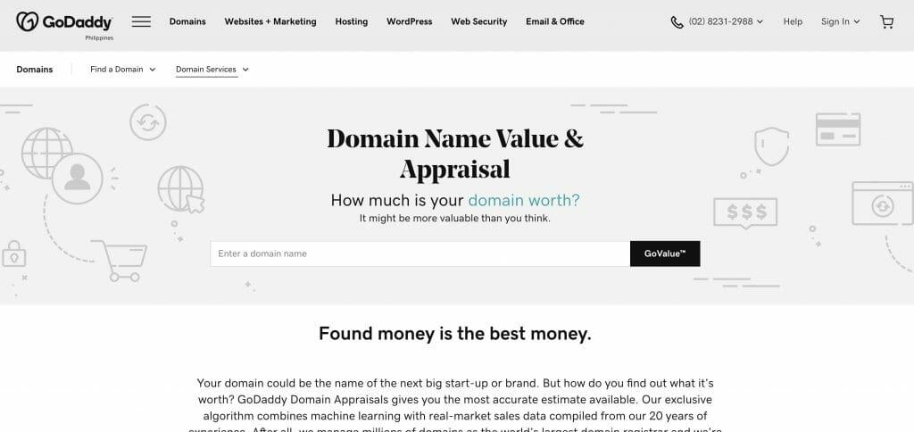 godaddy-domain-value-appraisal