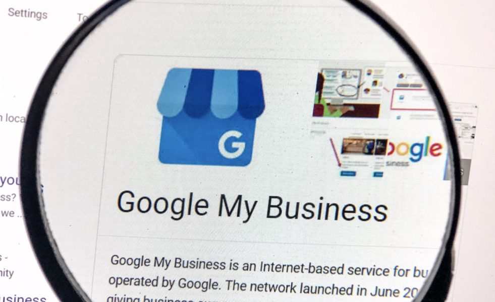 google my business on screen descriptiion