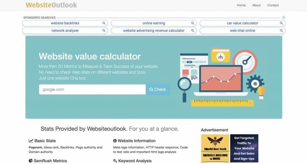 websiteoutlook website tool