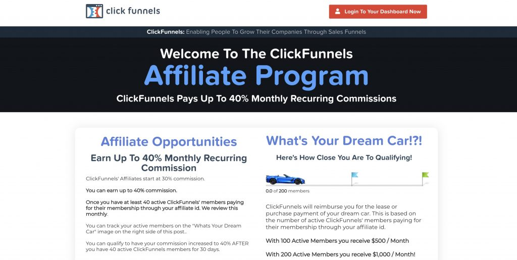 Cllickfunnels Affiliate Program