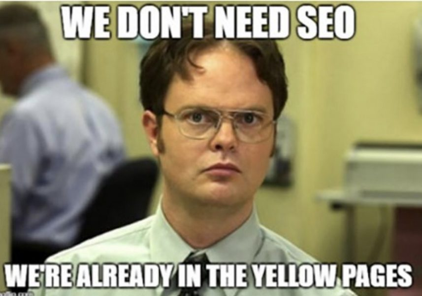 SEO yellowpages meme