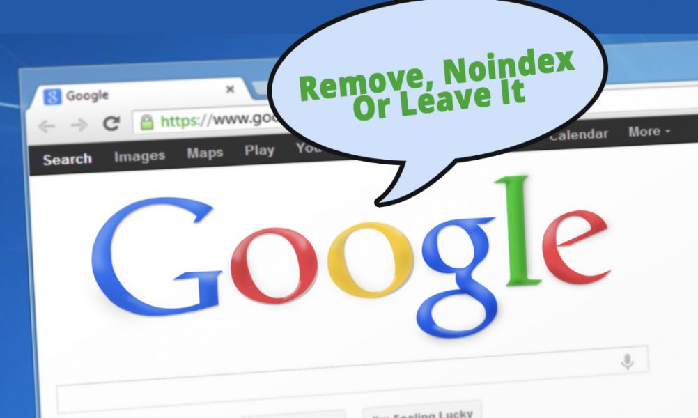 google advice noindex or leave it