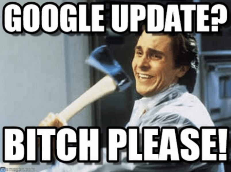 google update bitch please meme