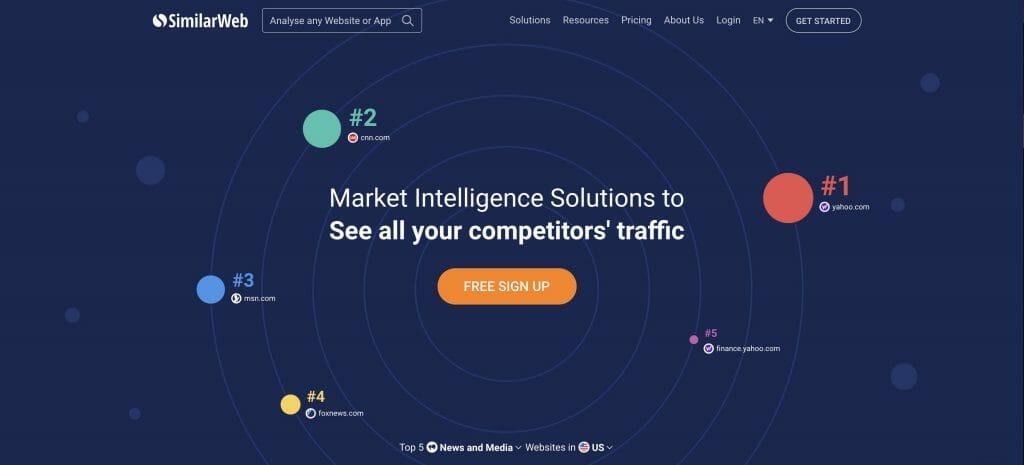 similarweb homepage snapshot