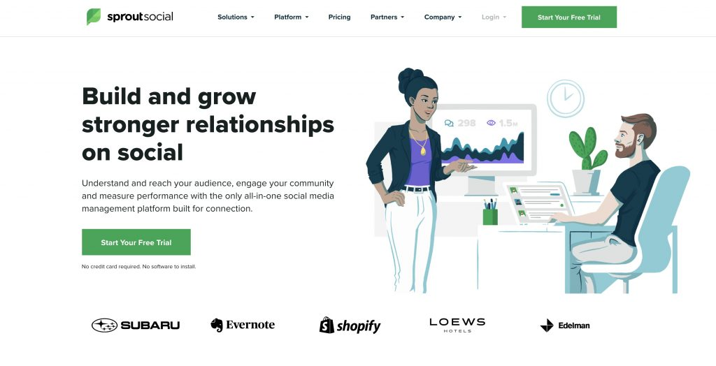 sproutsocial homepage screenshot