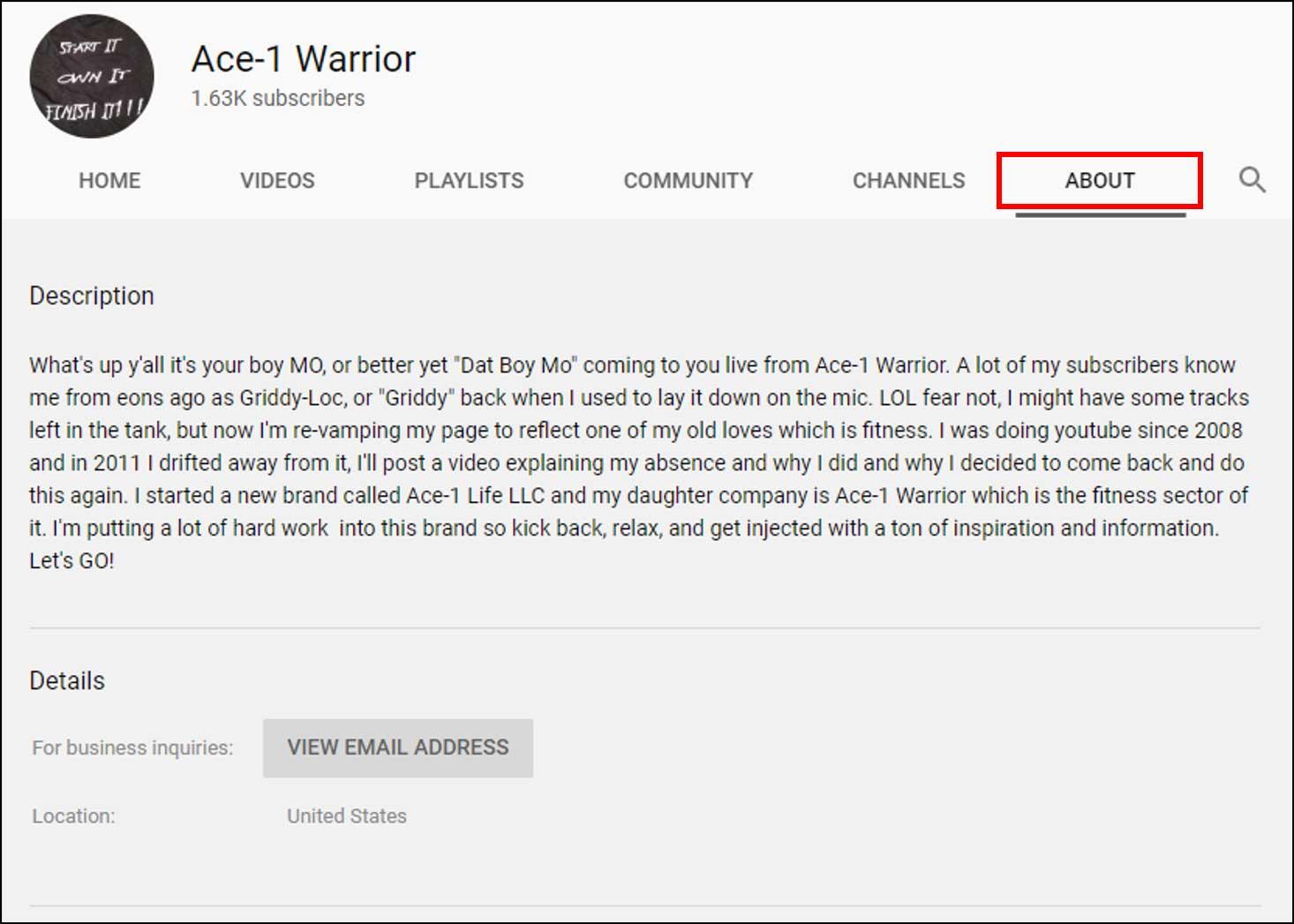 Ace 1 Warrior page description