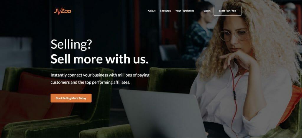 JVZoo Homepage Screenshot