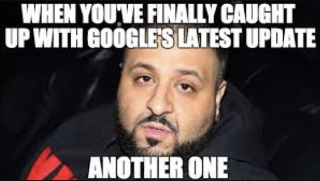 core update dj khaled meme