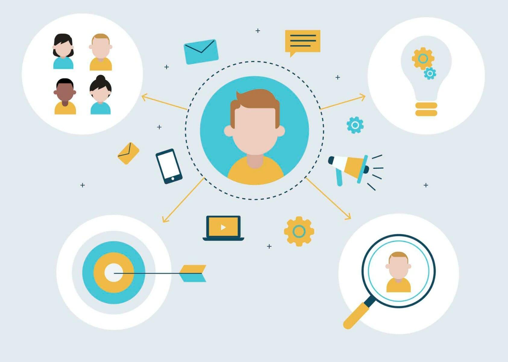 influencer process on illustration