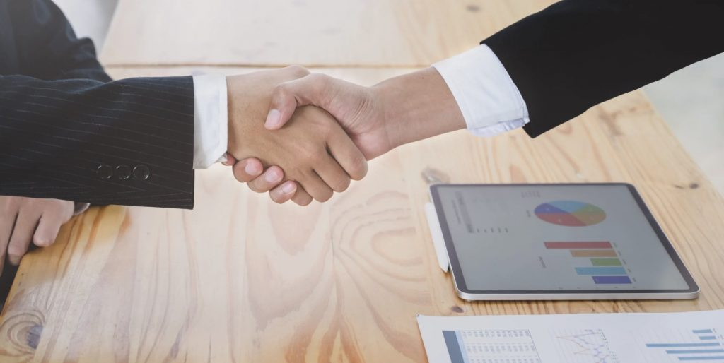 shake hand deal on affiliate marketing
