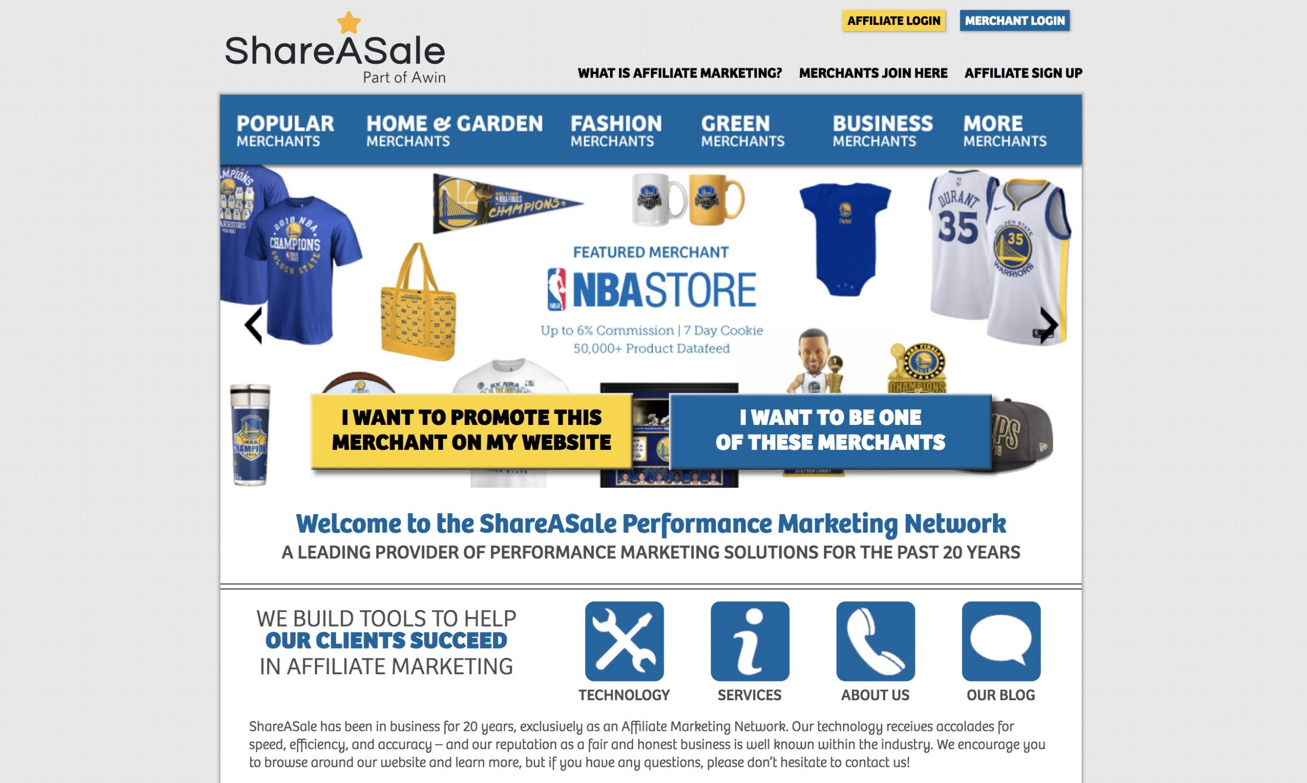 shareasale homepage for cb alternative