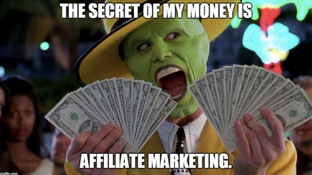 the mask affiliate marketing money meme