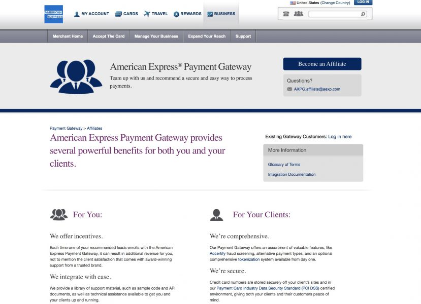 american express affiliate homepage