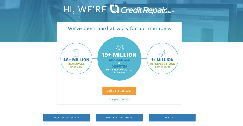 credit repair sales page